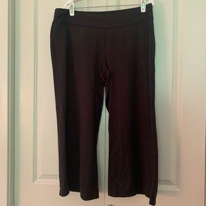 Black Wide Leg Lucy Yoga Pants